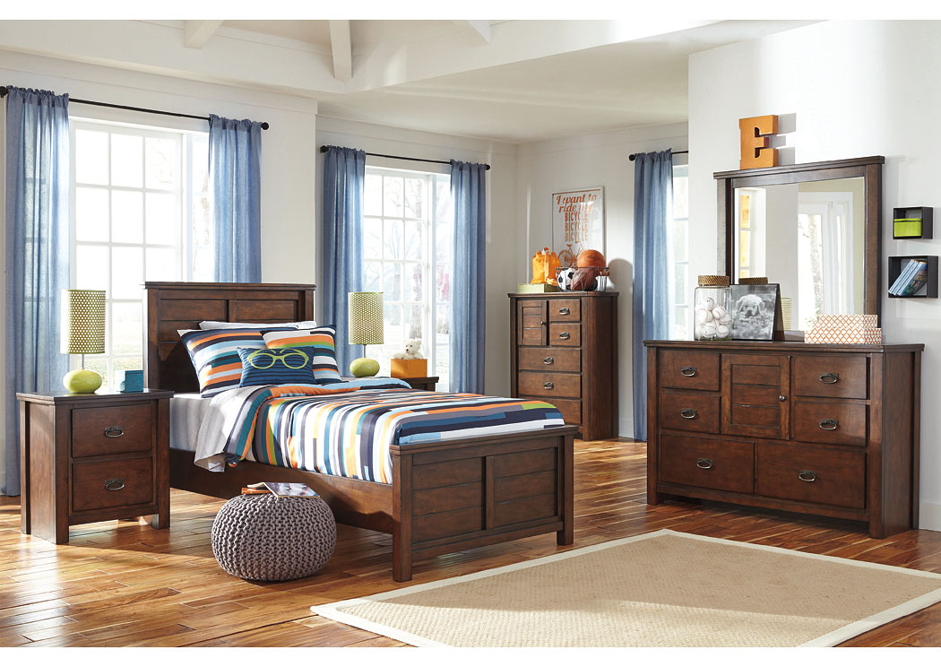 Ladiville Twin Panel Bed w/Dresser, Mirror, Chest & Nightstand,Signature Design By Ashley