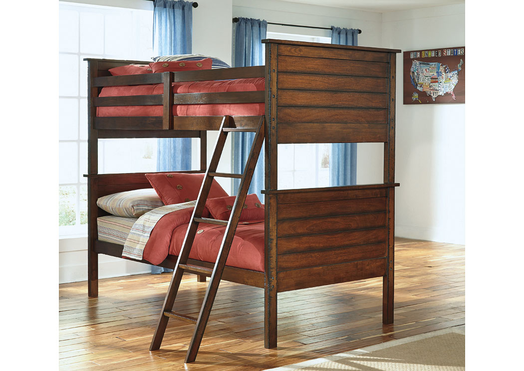 Sam S Furniture And Mattress Ladiville Twin Twin Bunk Bed