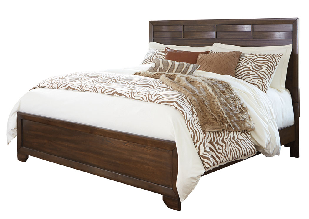 Mydarosa Brown California King Panel Bed,ABF Signature Design by Ashley