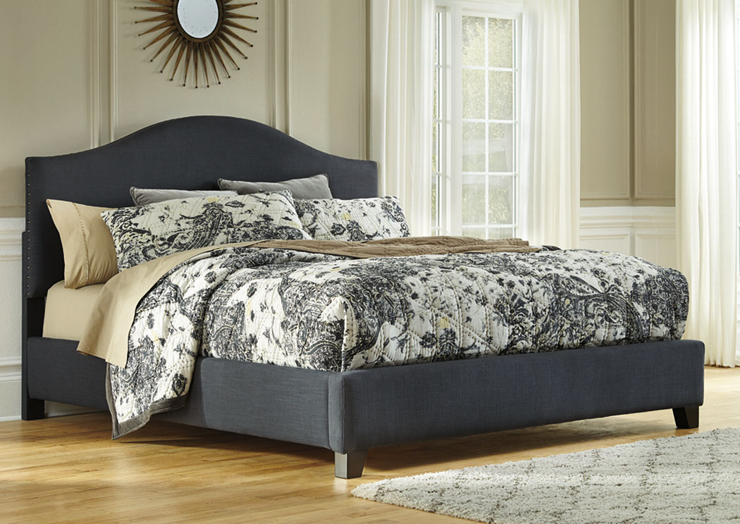 Kasidon Dark Gray Queen Upholstered Bed,Signature Design by Ashley