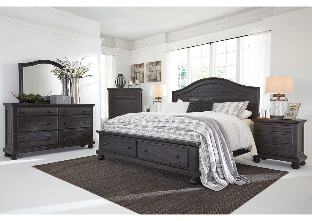 Bedroom Sets With Storage Beds barry's furniture - jasper, al sharlowe charcoal queen storage bed
