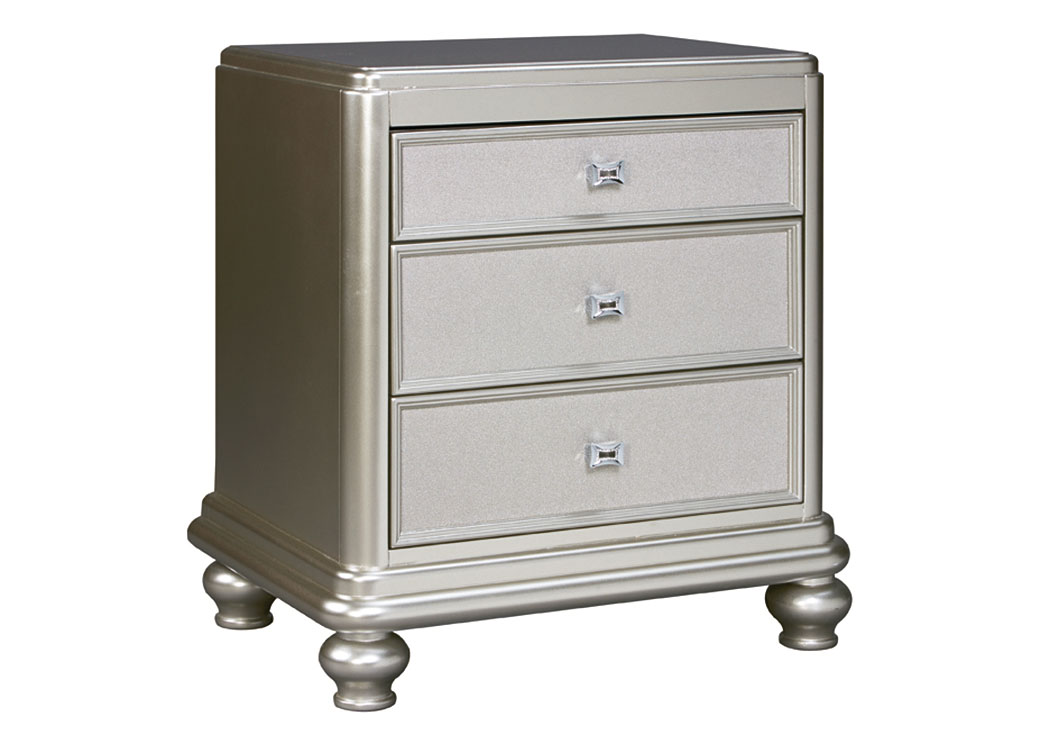Coralayne Silver 3 Drawer Nightstand,Signature Design By Ashley