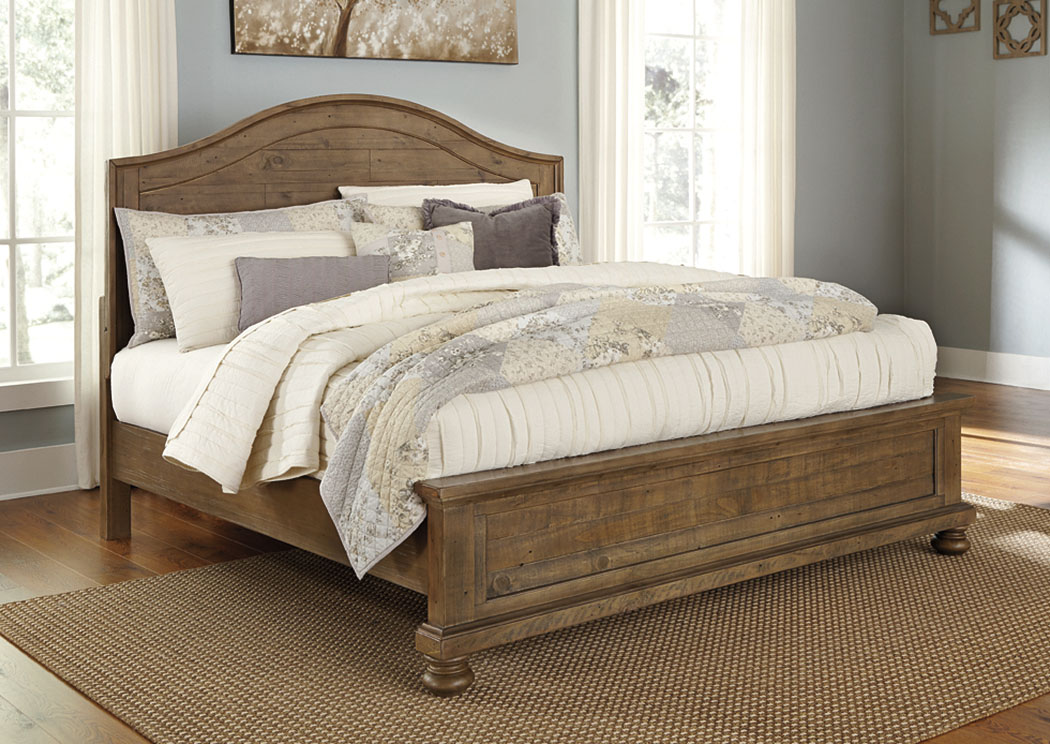 Trishley Light Brown King Panel Bed,Signature Design By Ashley