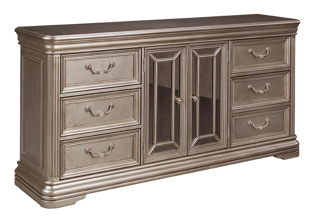 Spiller Furniture Mattress Birlanny Silver Dresser