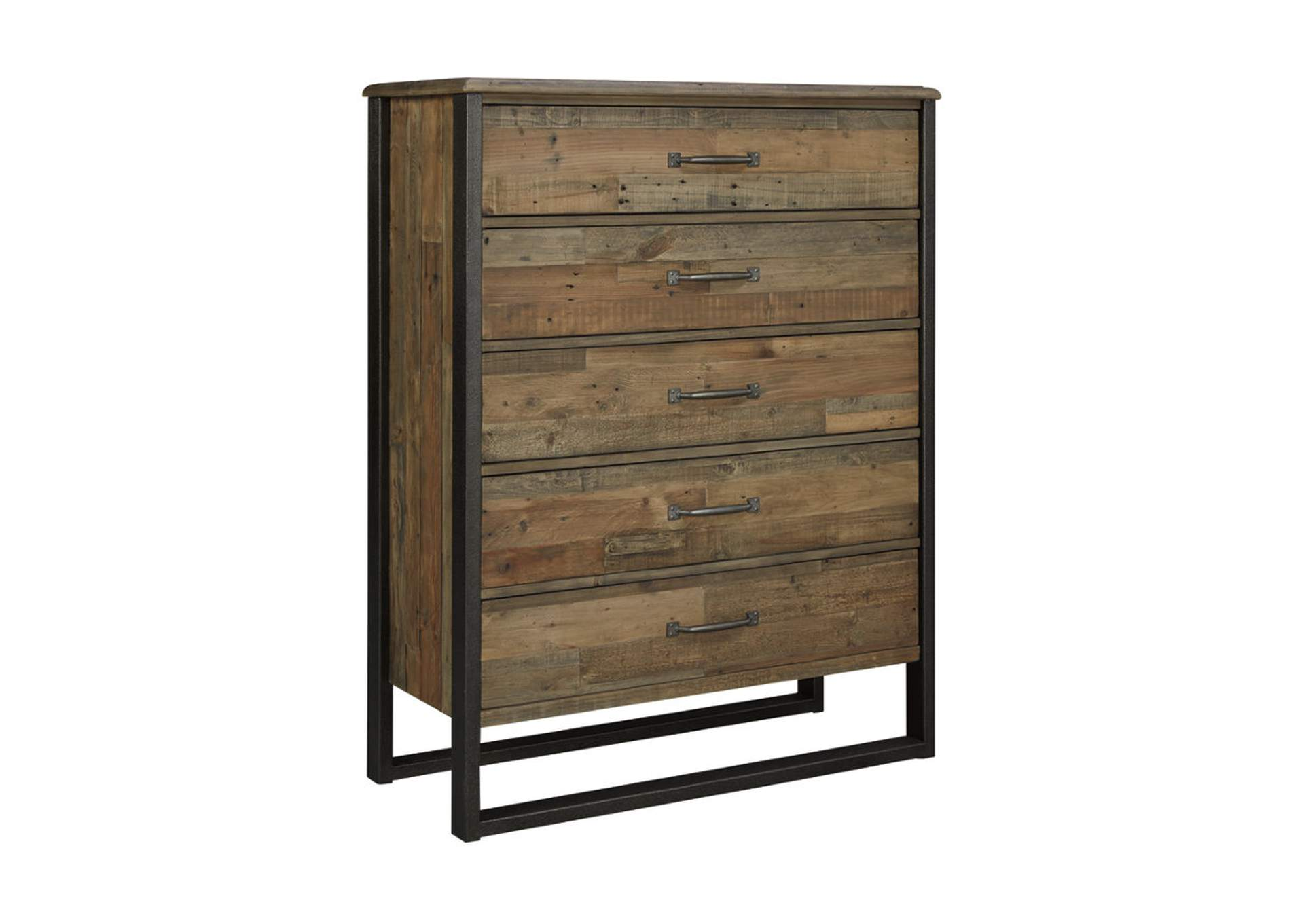 Sommerford Brown Five Drawer Chest,Signature Design By Ashley