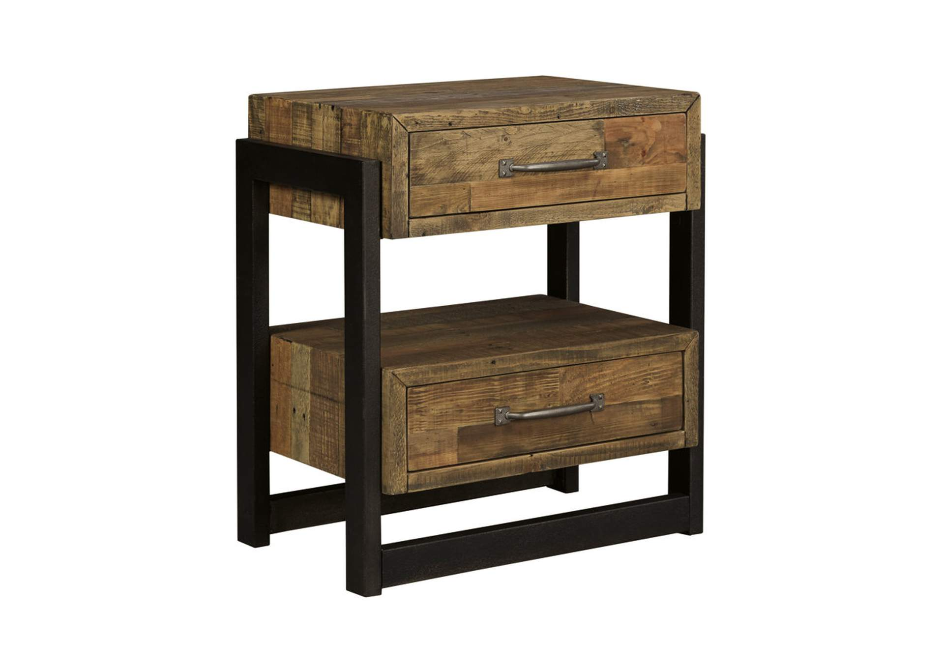 Sommerford Brown Two Drawer Nightstand,Signature Design By Ashley
