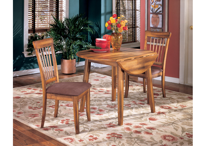 Berringer Round Drop Leaf Table w 4 Chairs Ashley. Furniture Liquidators   Baton Rouge  LA