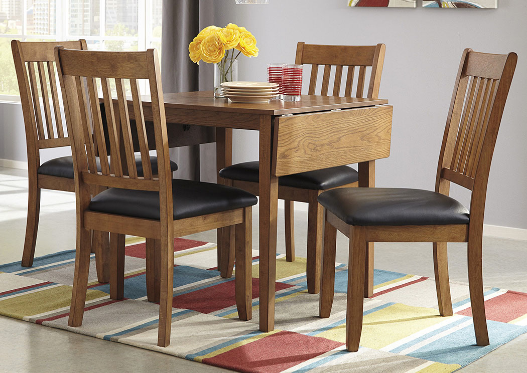 Joveen Dining Room Drop Leaf Table w/ 4 Side Chairs,Signature Design by Ashley
