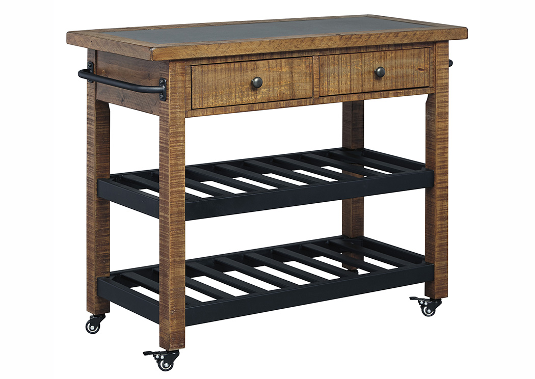 Marlijo Warm Brown Kitchen Cart,Signature Design By Ashley