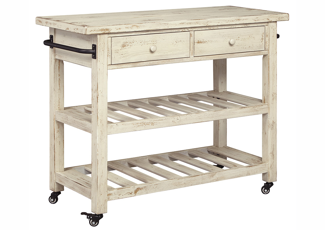 Marlijo White Kitchen Cart,Signature Design By Ashley