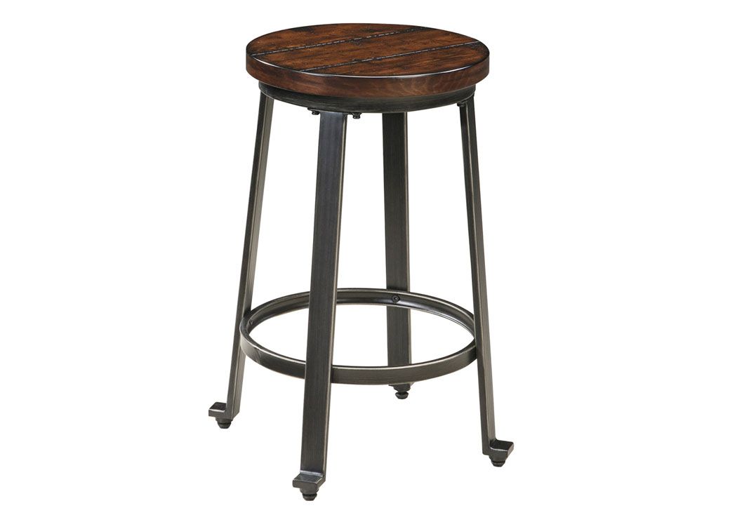 Furniture World Nw Challiman Rustic Brown Stool Set Of 2