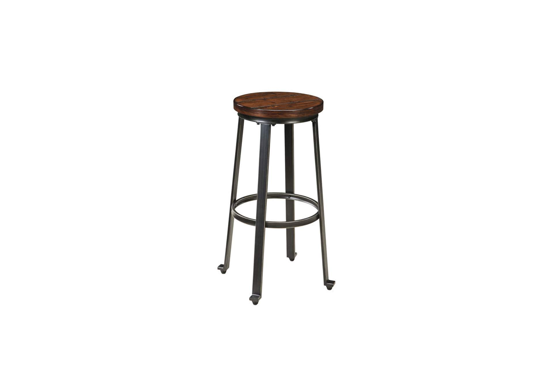 Challiman Rustic Brown Tall Stool (Set of 2),ABF Signature Design by Ashley