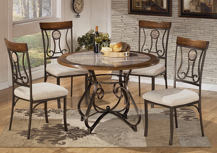 Hopstand Round Table w/4 Side Chairs,Signature Design by Ashley