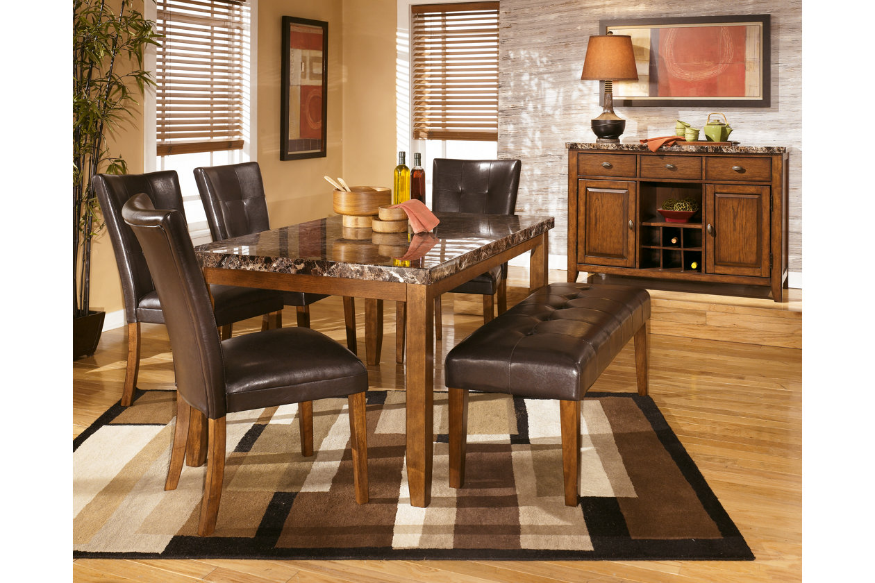 Lacey Rectangular Dining Table w/4 Side Chairs & Bench,Signature Design by Ashley