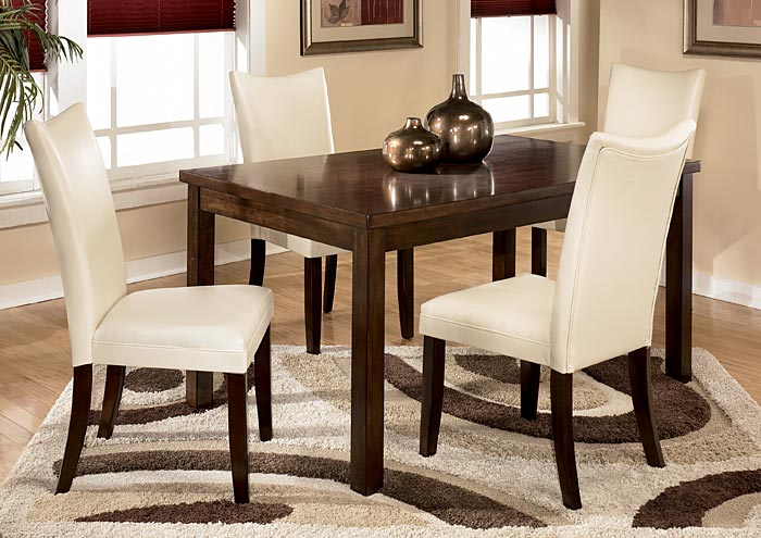 Dining Room Charrell Ivory Side Chairs Set