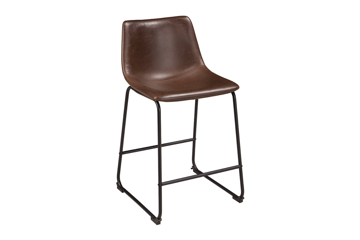 Centiar Two-tone Brown Upholstered Barstool (Set of 2),ABF Signature Design by Ashley