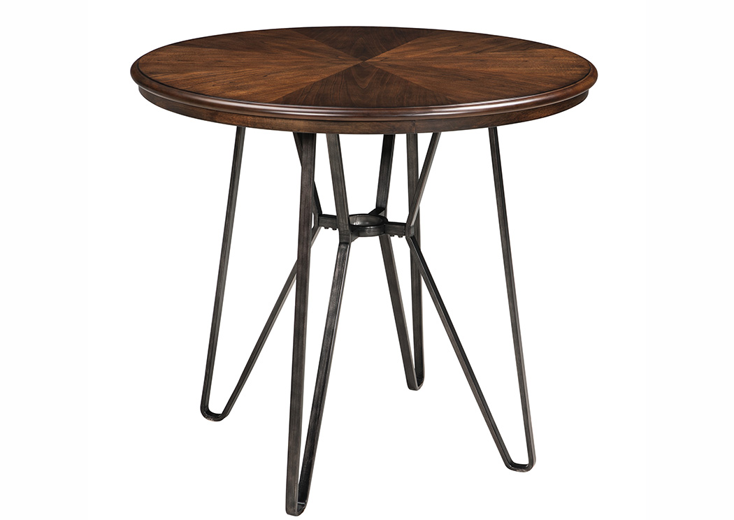 Centiar Two-Tone Brown Round Counter Height Table,Signature Design By Ashley