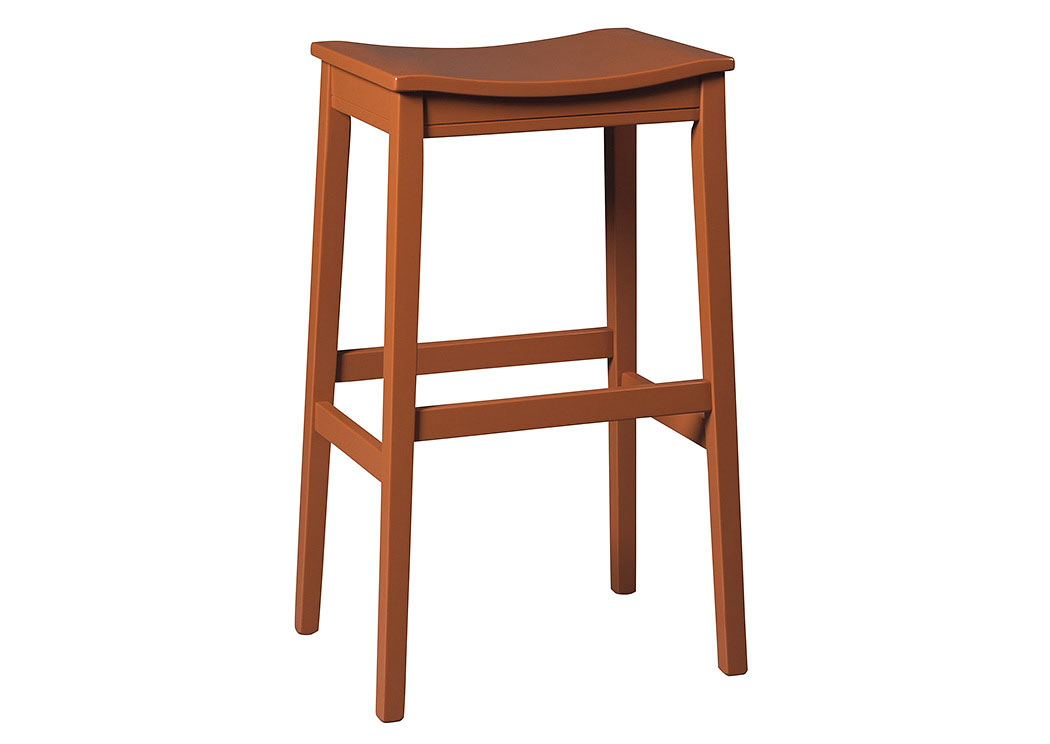 Bantilly Red Tall Stool (Set of 2),Signature Design by Ashley