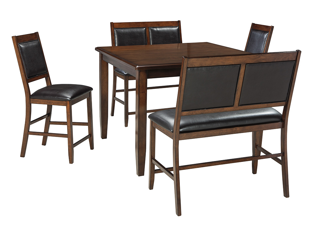 Furniture Liquidators Home Center Meredy Brown Dining Room Counter Table Set