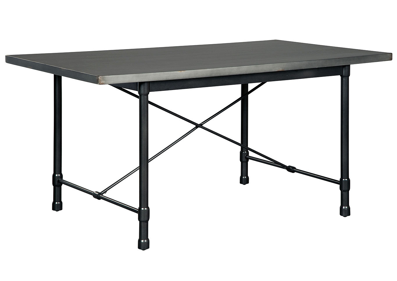 Minnona Aged Steel Rectangular Dining Table,Signature Design By Ashley