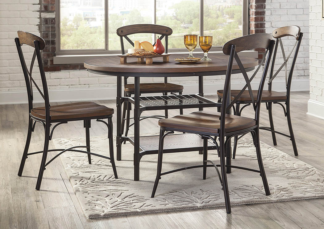 best buy furniture and mattress rolena brown round dining room table w