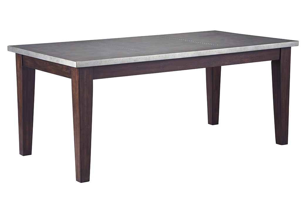 Larchmont Burnished Dark Brown Rectangular Dining Table,Signature Design By Ashley