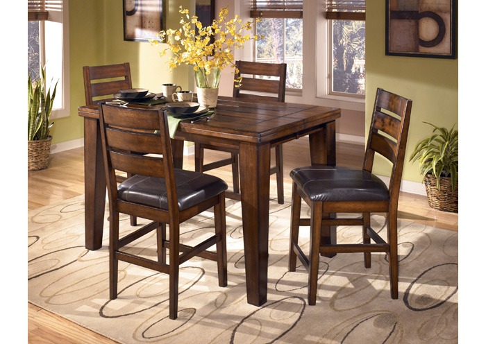 Larchmont Counter Butterfly Extension Table & 4 Stools,Signature Design by Ashley