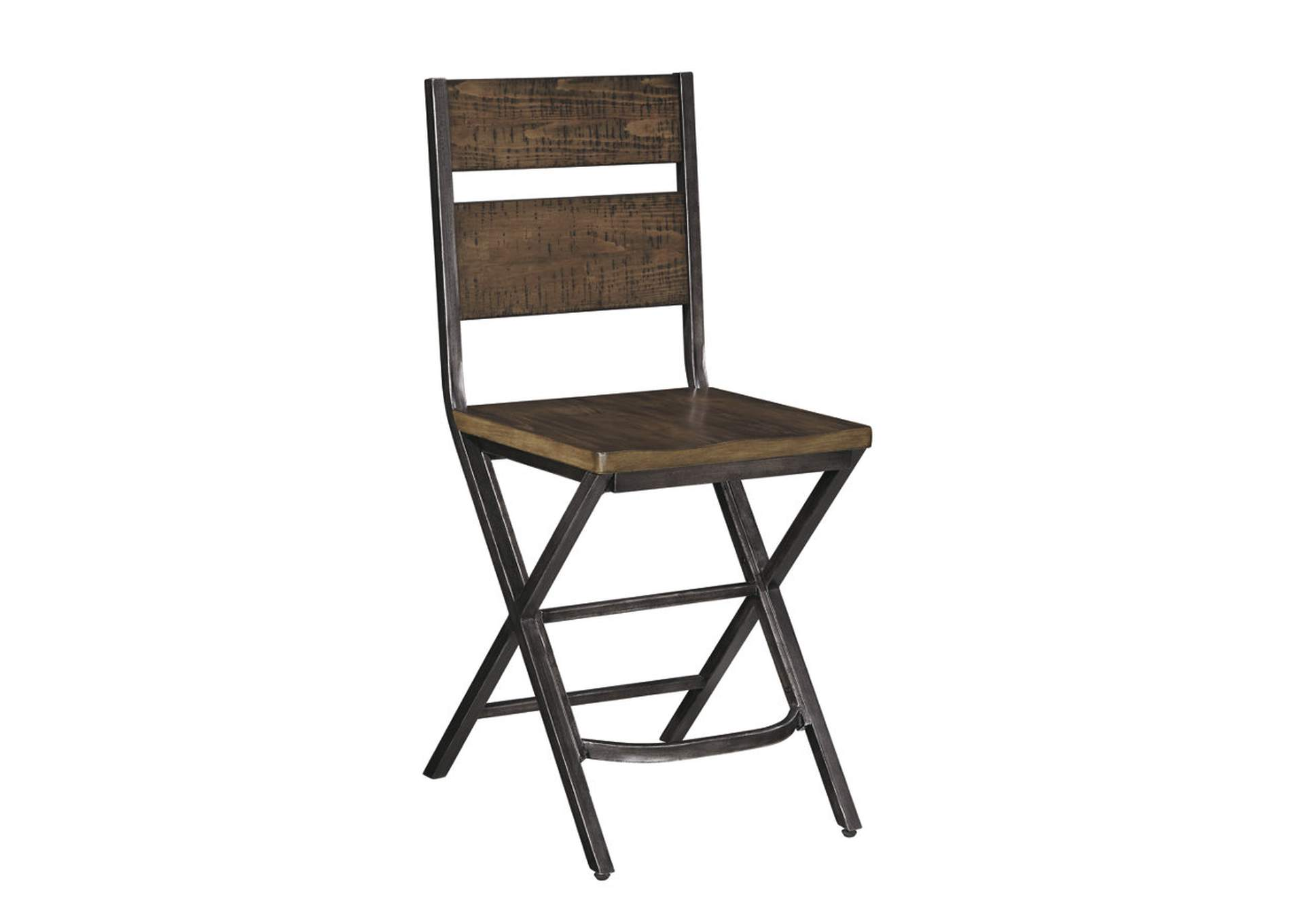 Kavara Medium Brown Barstool (Set of 2),Signature Design by Ashley
