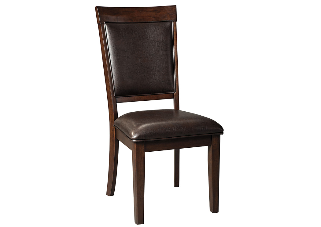 Shadyn Brown Dining Upholstered Side Chair (Set of 2),Signature Design by Ashley