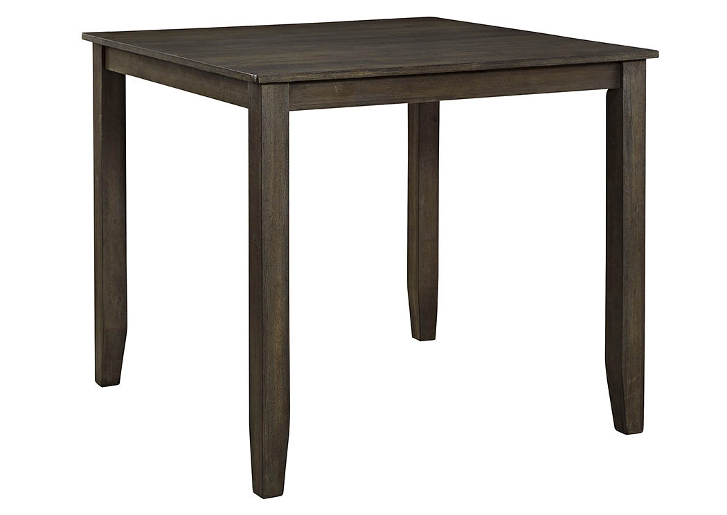 Dresbar Grayish Brown Square Counter Height Table,Signature Design By Ashley