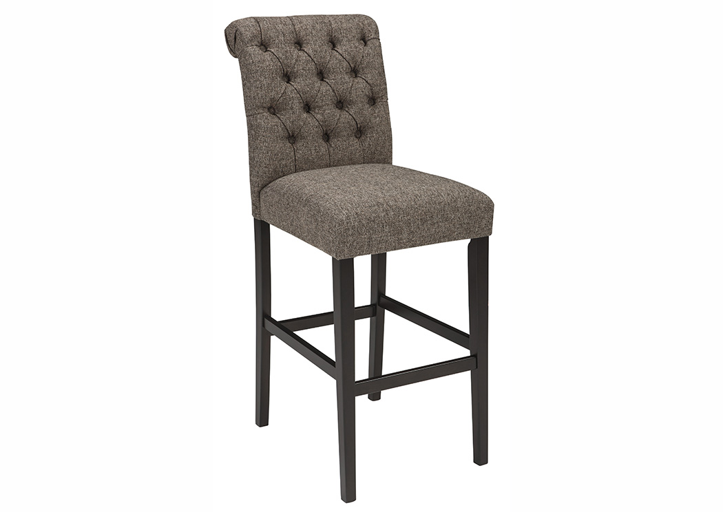 Tripton Medium Brown Tall Upholstered Barstool (Set of 2),Signature Design By Ashley