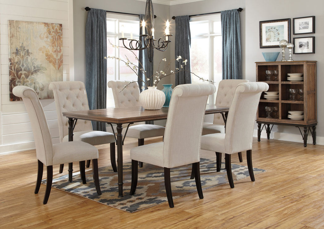 Tripton Rectangular Dining Table w/6 Side Chairs & Server,Signature Design By Ashley