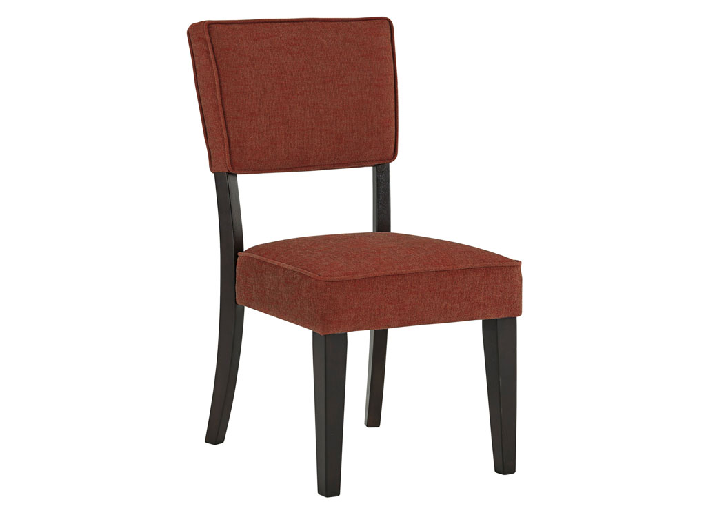 Gavelston Brick Dining Upholstered Side Chair Set Of 2Signature Design By Ashley