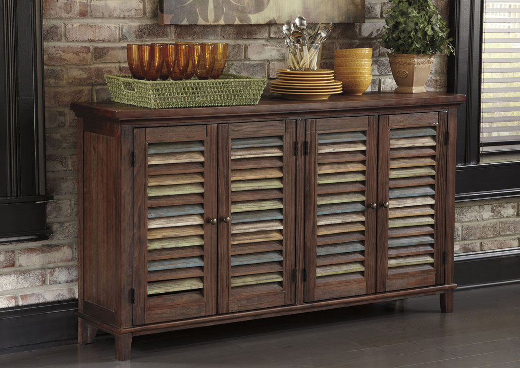 Mestler Dark Brown Server,ABF Signature Design by Ashley