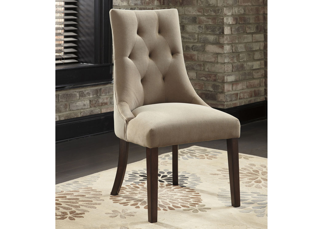 Mestler Light Brown Upholstered Side Chair (Set of 2),Signature Design By Ashley