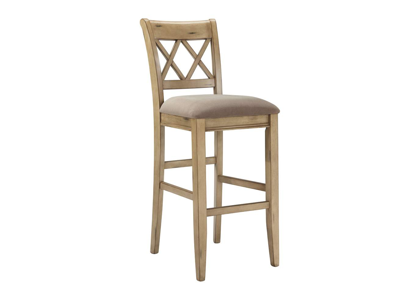 Mestler Tall Upholstered Barstool (Set of 2),Signature Design by Ashley
