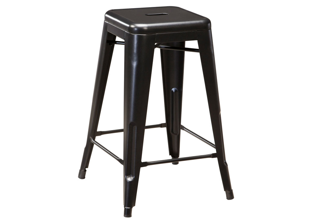 Pinnadel Gray Stool (Set of 4),Signature Design by Ashley
