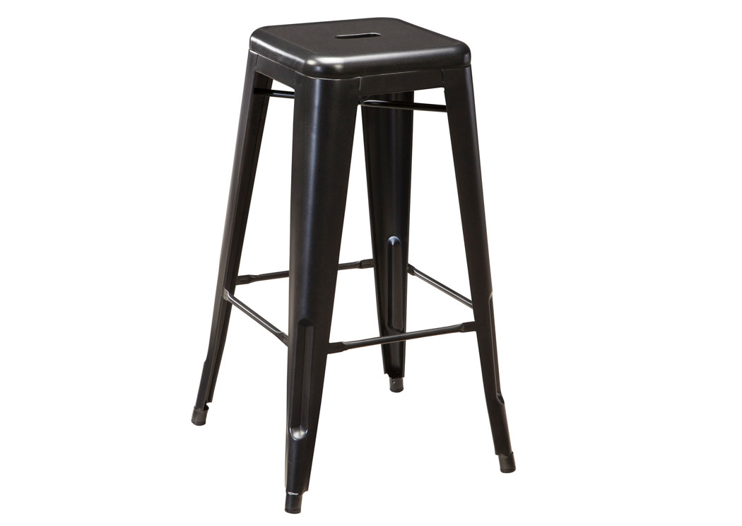 Pinnadel Gray Tall Stool (Set of 4),Signature Design By Ashley