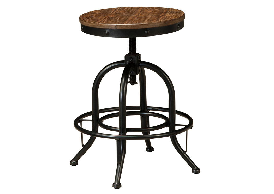 Pinnadel Light Brown Swivel Stool (Set of 2),Signature Design by Ashley