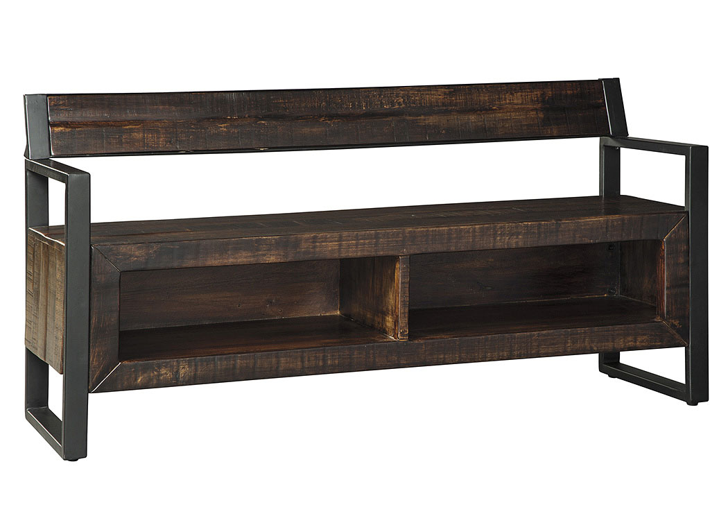 Glosco Brown Storage Bench,Signature Design by Ashley