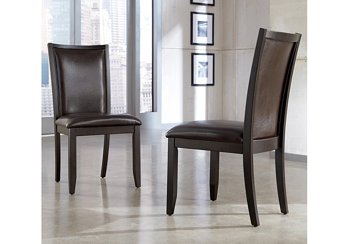 Trishelle Brown Upholstered Side Chair (Set of 2),Ashley