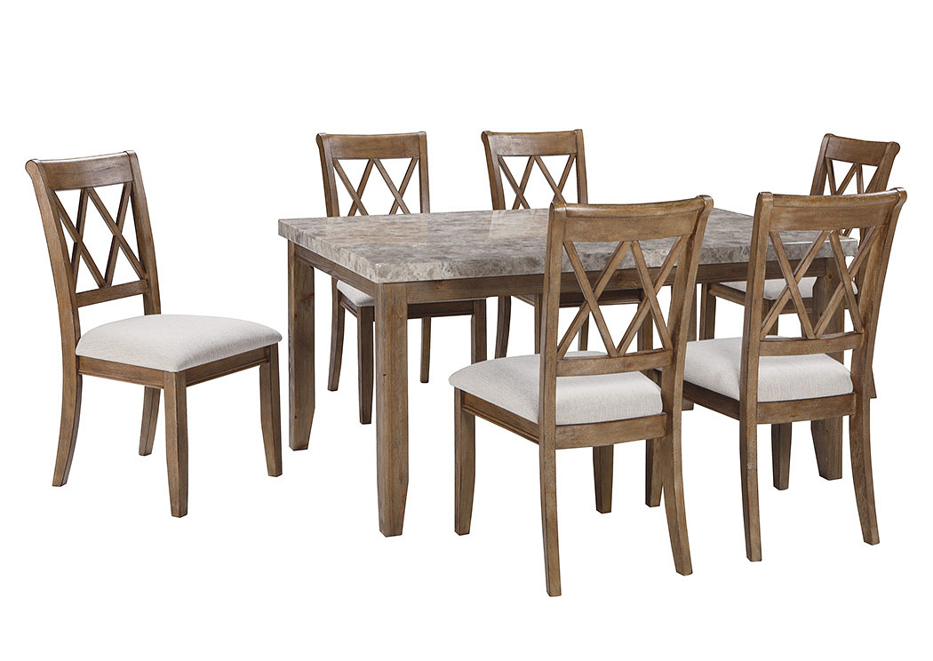 Narvilla Light Brown Rectangular Dining Room Table w/6 Side Chairs,Signature Design by Ashley