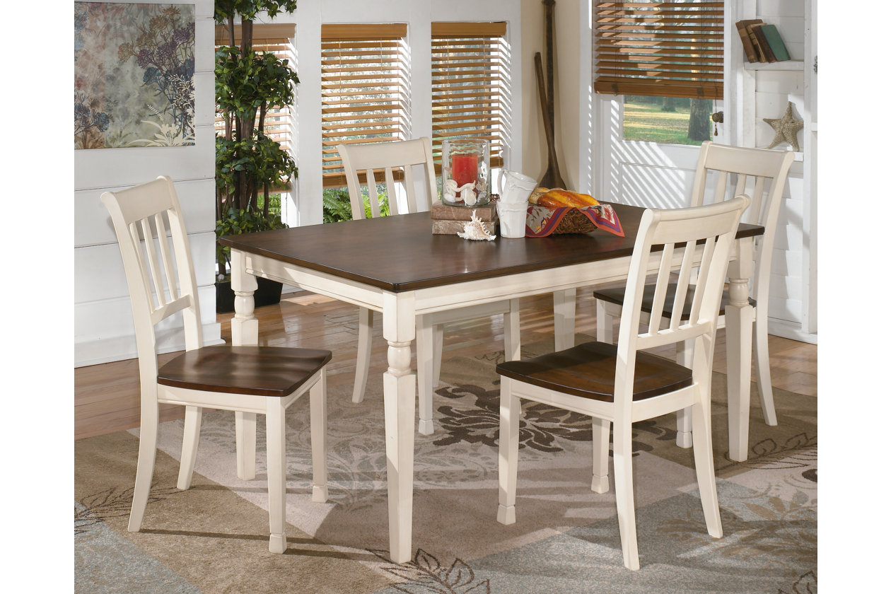 Whitesburg Rectangular Dining Table w/4 Side Chairs,Signature Design by Ashley