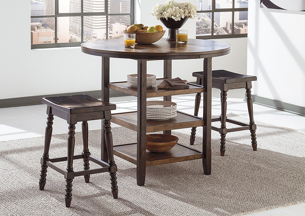 Moriann Round Counter Table w/2 Stools,Signature Design by Ashley