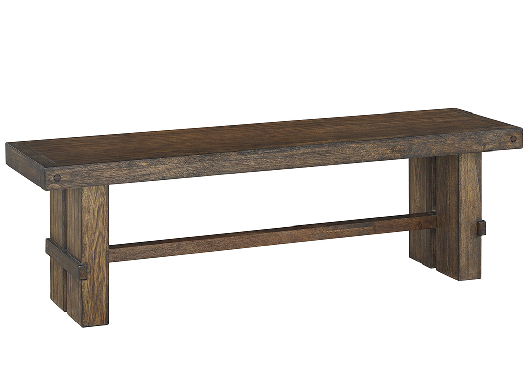 Leystone Dark Brown Large Dining Room Bench,Signature Design by Ashley