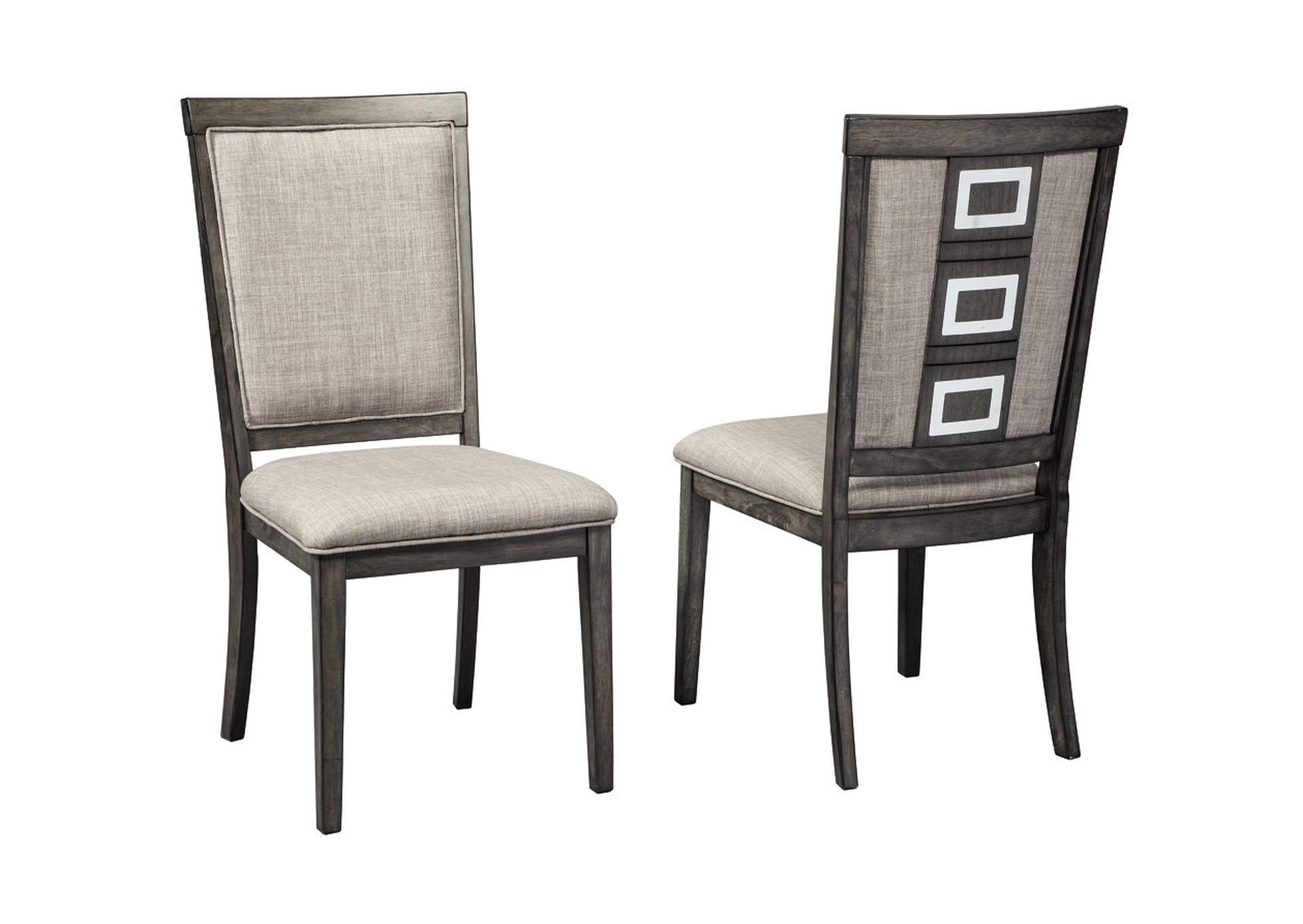 Chadoni Gray Upholstered Side Chair Set Of 2Signature Design By Ashley