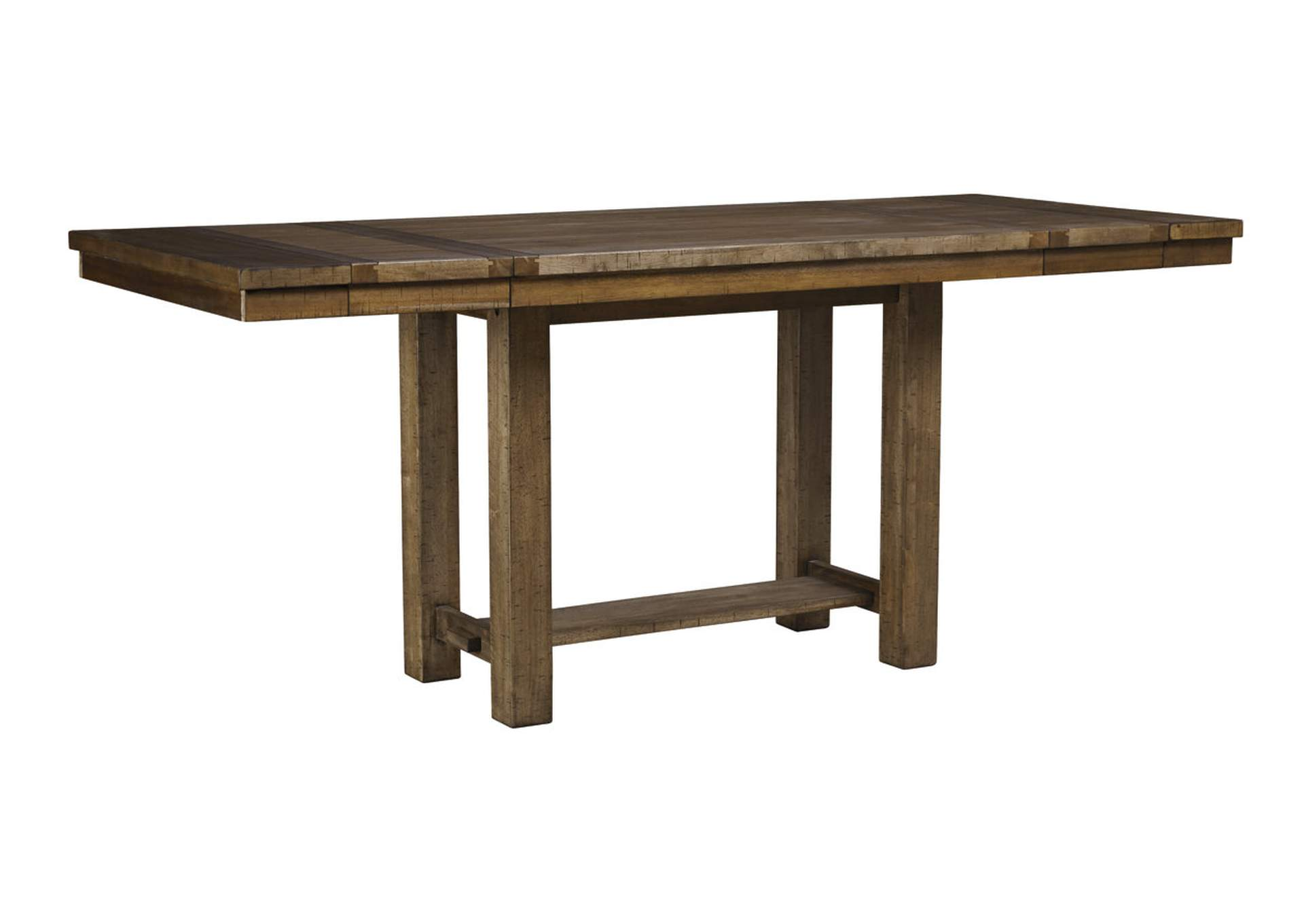 Moriville Gray Rectangular Dining Room Counter Extension Table,Signature Design By Ashley