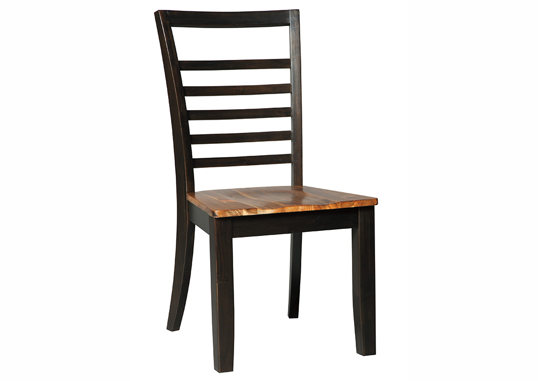 Quinley Two-Tone Brown Dining Room Side Chair (Set of 2),Signature Design By Ashley