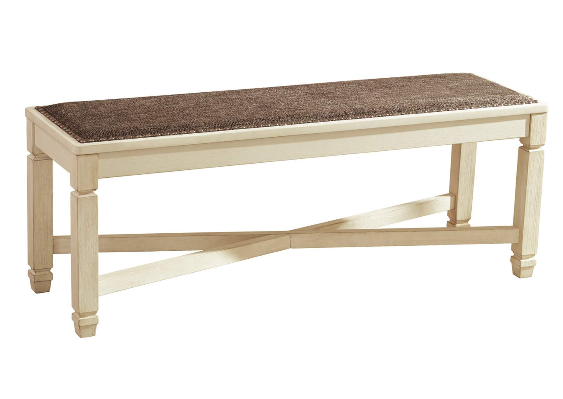 Bolanburg Antique White Large Upholstered Dining Room Bench,ABF Signature Design by Ashley