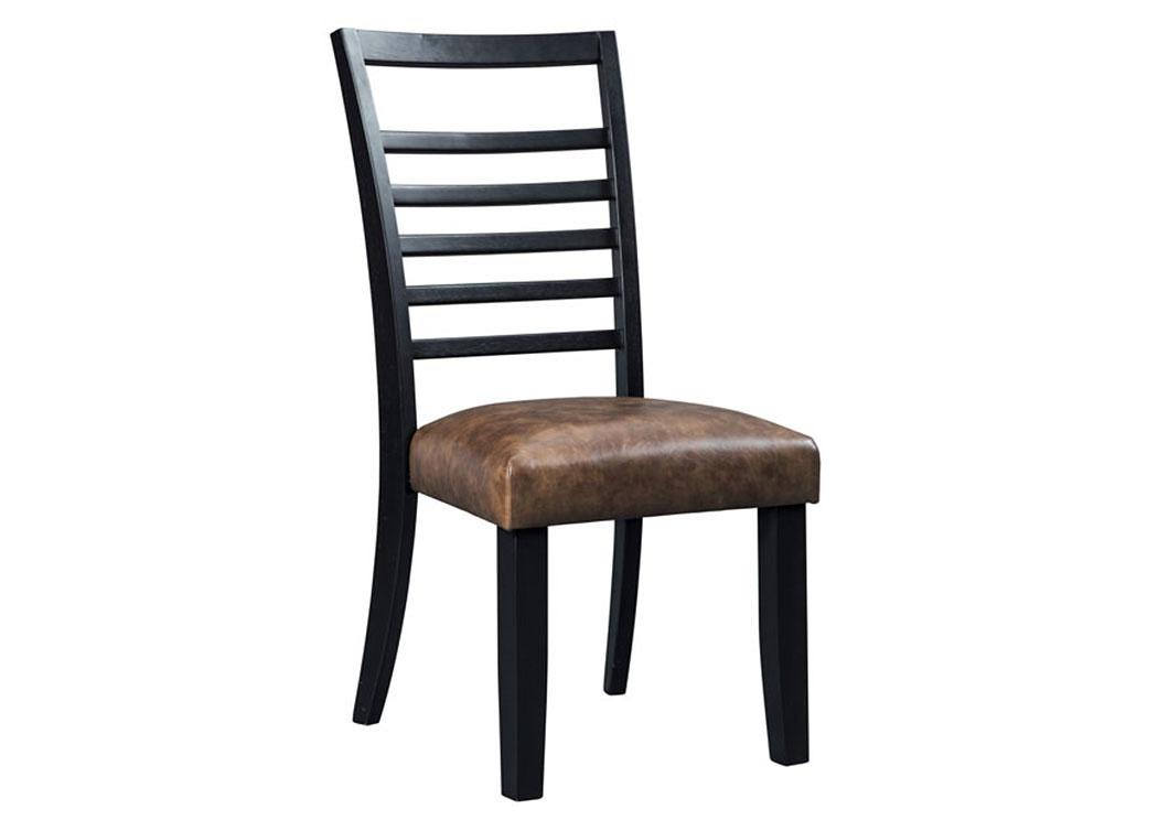 Manishore Brown Dining Upholstered Side Chair (Set of 2),Signature Design By Ashley